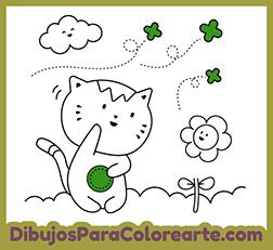 Animales Para Colorear Gato