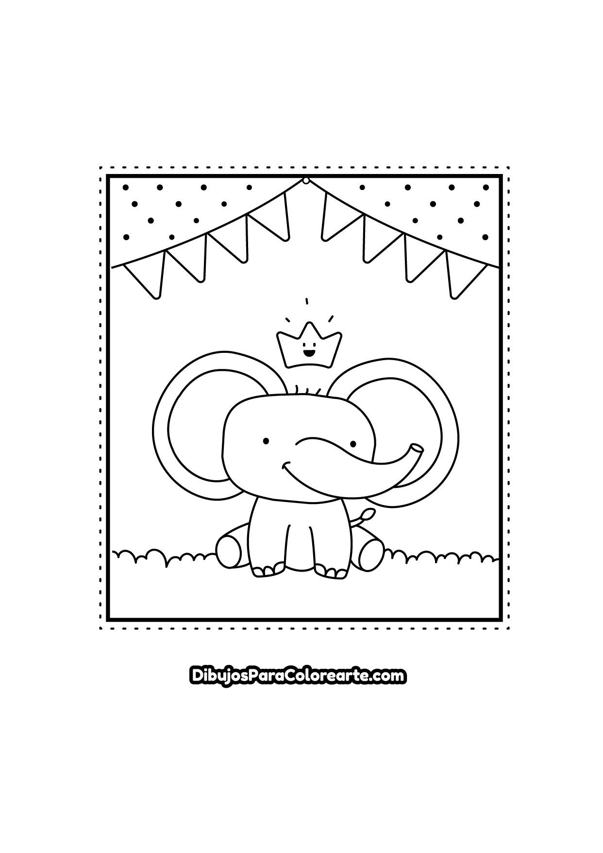Dibujos Para Colorear Elefante