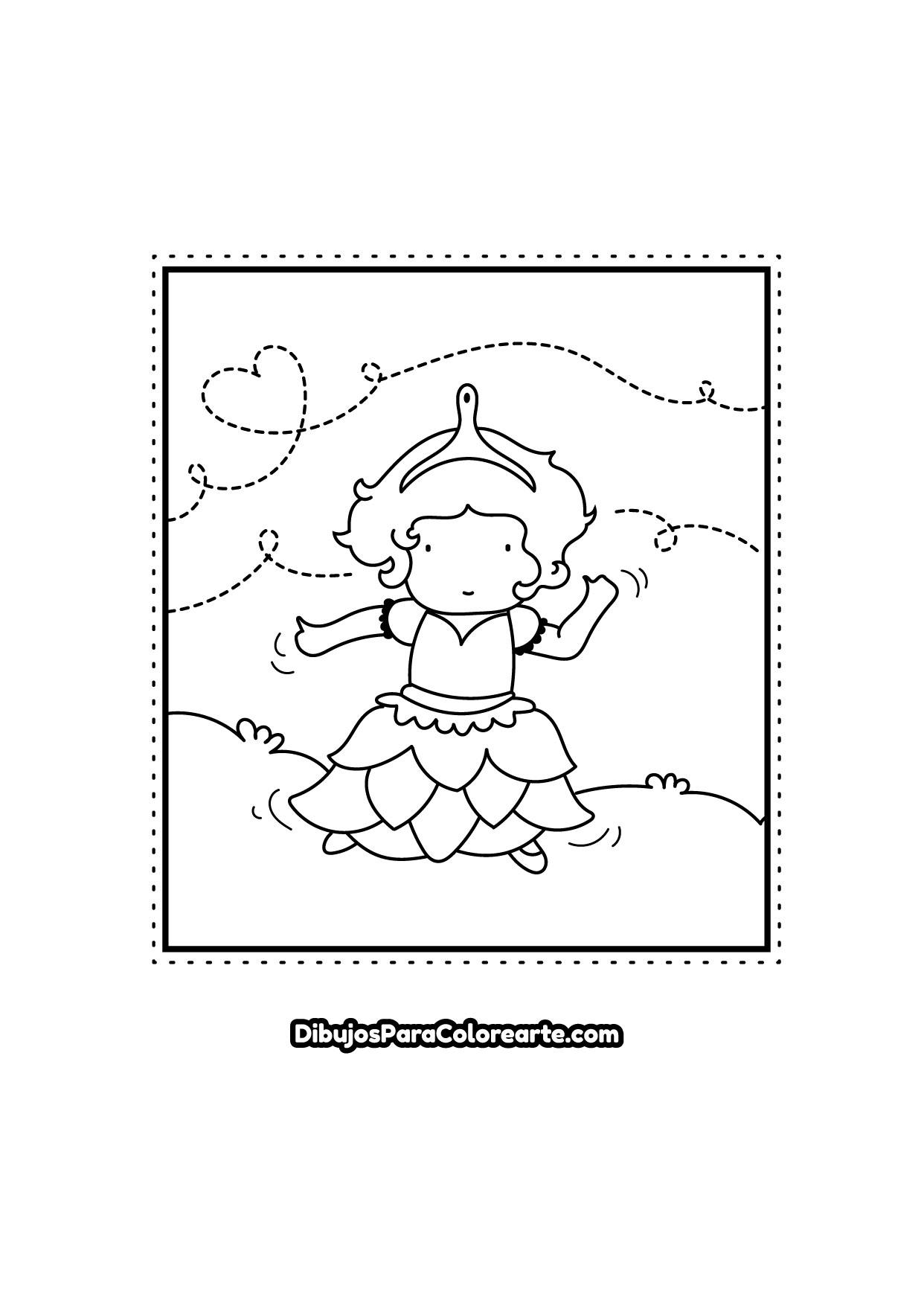 Pintar Dibujo De Princesa Bailarina