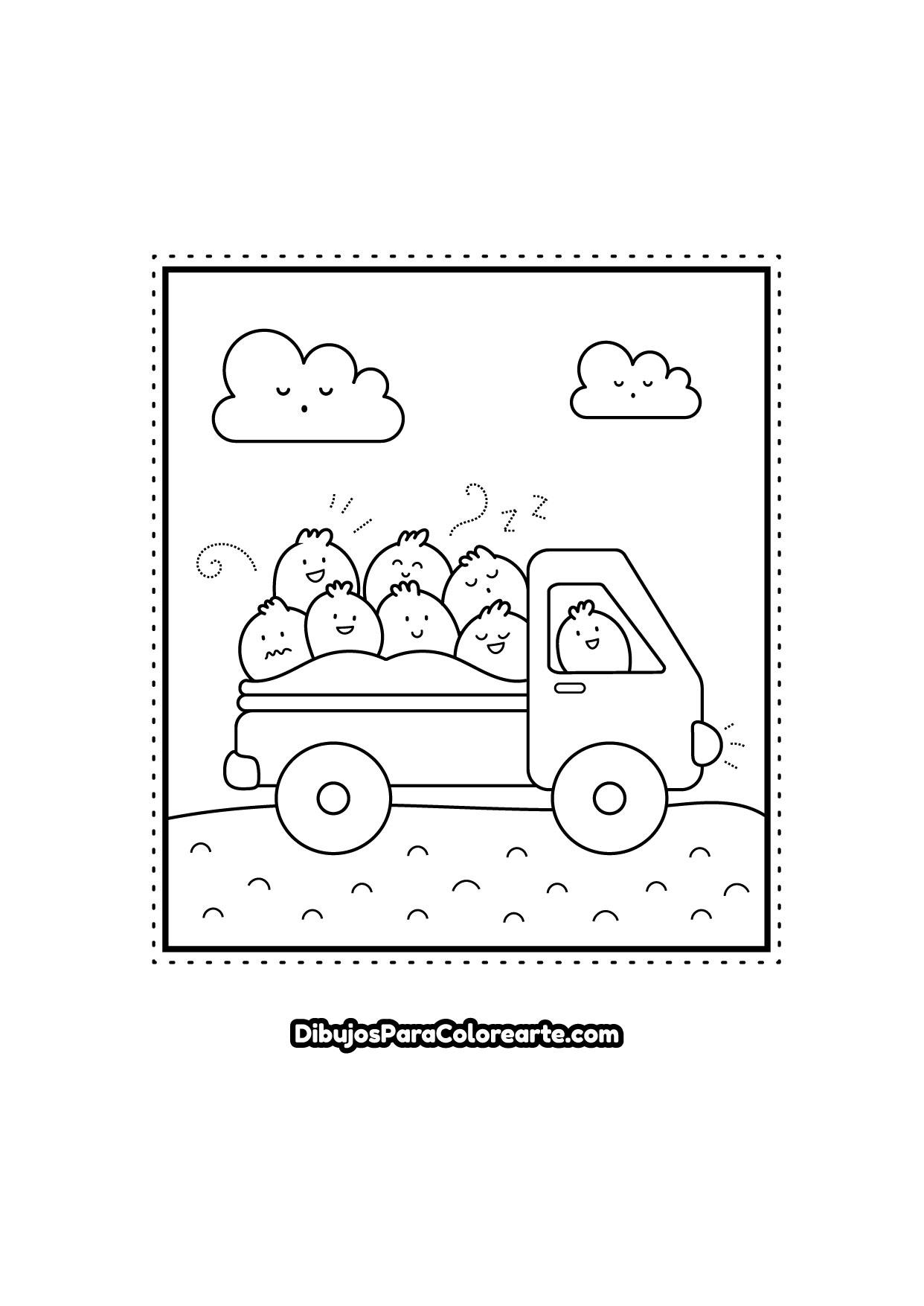 Dibujos Para Colorear Fáciles Camión