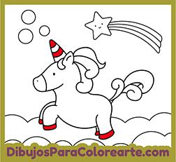 Dibujo Para Pintar Unicornio Dulce