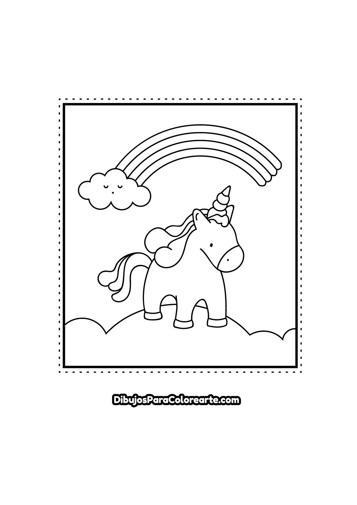 Dibujos Para Colorear Unicornios Bellísimos