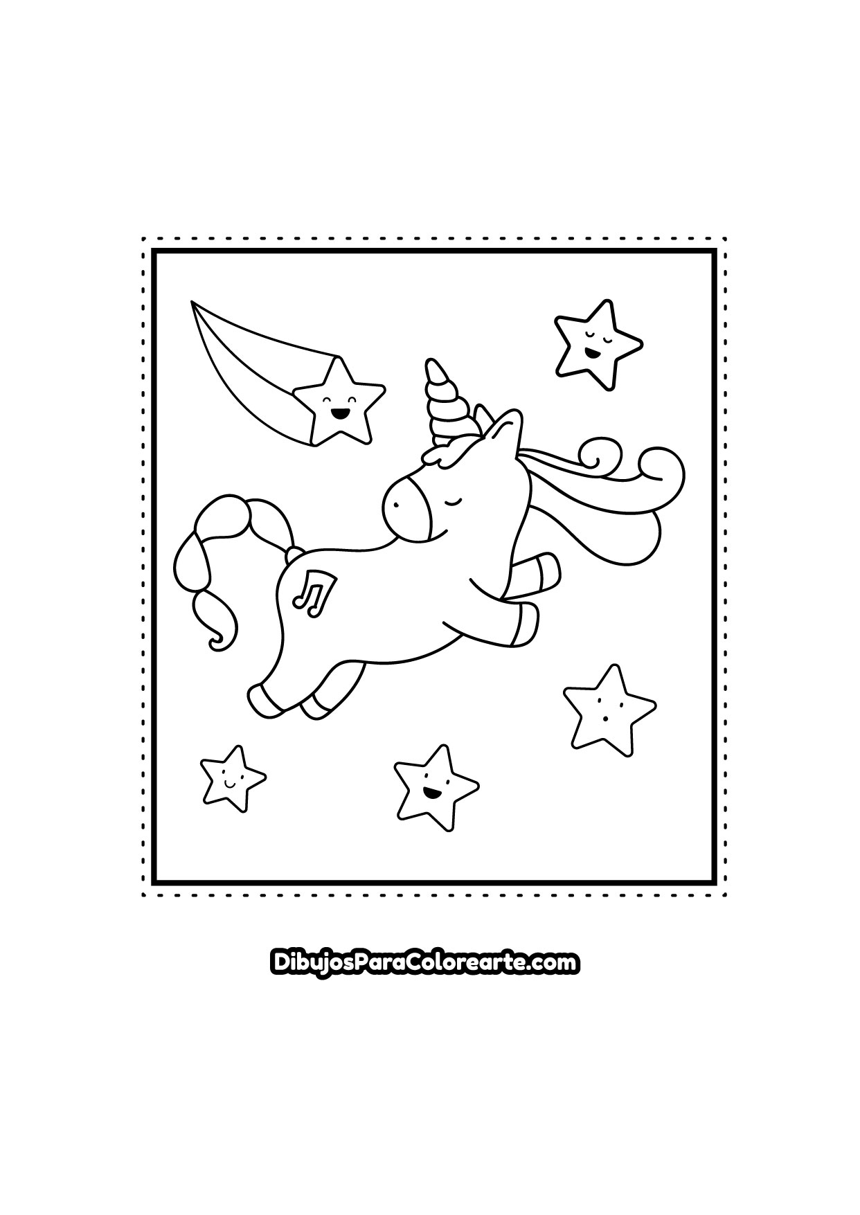 Unicornio Para Colorear Online O Imprimir